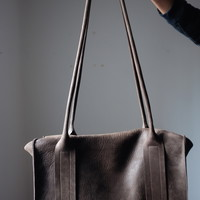 Leather tote bag Flanel