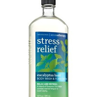 Bath & Body Works Aromatherapy Stress Relief Eucalyptus Basil Body Wash 10 Oz.
