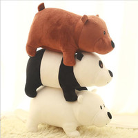 1pcs 25cm We Bare bears Cartoon Bear grizzly bear panda stuffed plush toy doll doll birthday gift kids toy