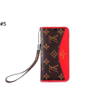 LV tide brand anti-fall flip holster iphone xs mobile phone case cover #5