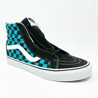 Vans Sk8 Hi Reissue 50th Aniversary Checkerboard Ceramic Brown Teal Mens Shoes