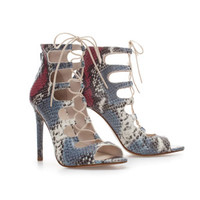 SNAKESKIN LEATHER HIGH HEEL ANKLE BOOT - Shoes - WOMAN   ZARA United States