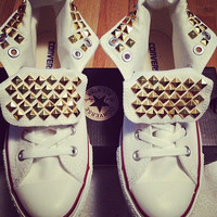 Studded Converse by StuddedHippies on Etsy