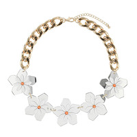Plastic Flower Chain Collar - We Love - Topshop USA