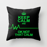 Keep Calm Throw Pillow by Alice Gosling