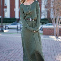 Amore Than Words Maxi Dress, Olive