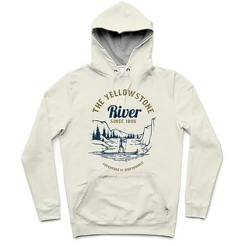 The Yellowstone River Trendy All-Over Print Solid Narvik Hoodie
