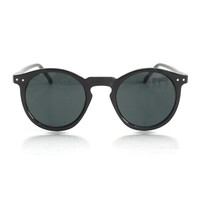 Black Mens Round Frame O'Malley Sunglasses / by AmericanDeadstock