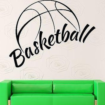 Wall Sticker Vinyl Decal NBA Basketball Ball Cool Decor Sports Fans Unique Gift (ig2130)