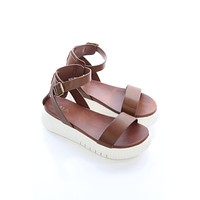 Brown Ankle Strap Sandals - Mia