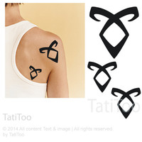 Runes, Angelic power, city of bones - Temporary Tattoo T200