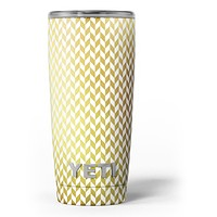 The Golden Herringbone Pattern - Skin Decal Vinyl Wrap Kit compatible with the Yeti Rambler Cooler Tumbler Cups