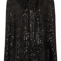 Saint Laurent - Sequined silk cape