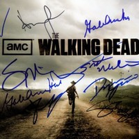 The Walking Dead cast 8x10 reprint signed photo by 15 inc. Lincoln +