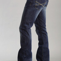 Stetson Mens Stetson Rocks Fit Jeans Small Stitch Pkt X Deoco Sandblasted