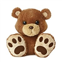 Chubby the Taddle Toes Brown Bear Stuffed Animal by Aurora
