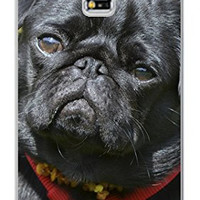 Adorable Black Pug Dog Direct Print (not a sticker) Samsung Galaxy Note 3, Note III Quality TPU SOFT RUBBER Snap On Case for Samsung Galaxy Note 3 - AT&T Sprint Verizon - White Case