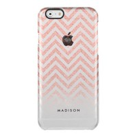 Ombre Pink Faux Rose Gold Glitter Uncommon Clearly™ Deflector iPhone 6 Case