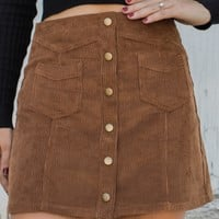 Stand Out Mini Skirt - Camel