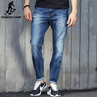 New Hole Jeans Men Fashion clothing Casual Jeans Male Fit Jean For Men Cotton Elastic Denim pants