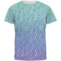 Halloween Mermaid Scales Costume Men's Soft T-Shirt