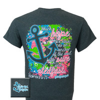 Girlie Girl Originals Anchor Hebrews 6:19 Hope Christian Bright T Shirt