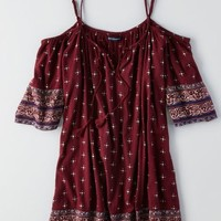 AEO Women's Patterned Off-the-shoulder Dress