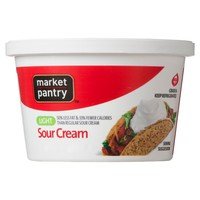 Market Pantry Light Sour Cream 8 oz