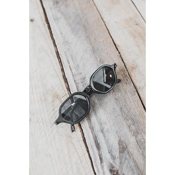 Heidi Hexagon Sunnies, Black