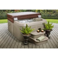 Amazon.com: Lifesmart Rock Solid Simplicity Plug and Play 4 Person Spa With 12 Jets: Sports & Outdoors