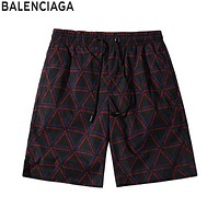 BALENCIAGA Fashionable Men Women Full Logo Print Sport Running Beach Shorts