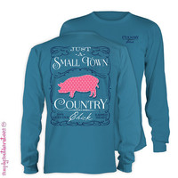 Long Sleeve Country Pig in Slate