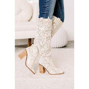 Saint Soft Suede Tall Boots | Snake