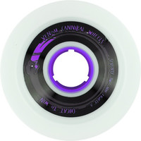 Venom Cannibals 72mm 76a White/Purple Longboard Wheels