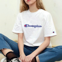 Champion Hot Sale (8-color) Tee shirt top White