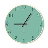 Wall Clock Sky Blue Simple Modern Clock - For Home, For Office, Gift Ideas, Unique Clock, Wall Art, Wall Decoration, Interior Design