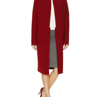 Calvin Klein Collection Women's Ansel Wool Structured Coat - Red -
