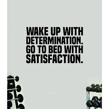 Determination Satisfaction Gym Fitness Wall Decal Home Decor Bedroom Room Vinyl Sticker Teen Art Quote Beast Lift Train Inspirational Motivational Health Girls Exercise