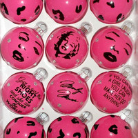Marilyn Monroe Leopard Print || Christmas Ornaments || 12 Pieces