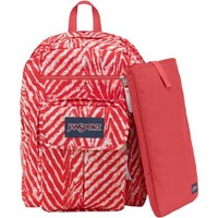 """JanSport Digital Student Backpack - Coral Peaches Wild At Heart / 17.5""""H x 13""""W x 10""""D"""