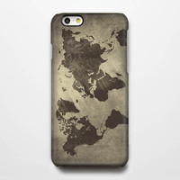 Grunge World Map iPhone 6s Case/Plus/5S/5C/5/4S Protective Case #918