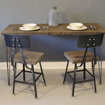 Small Urban Dining Table / Kitchen Table Made from Reclaimed Wood. FREE SHIPPING. Made from Salvaged Barn Wood