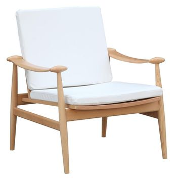 Fine Mod Imports Vogel Lounge Chair, White