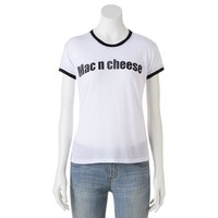 Mighty Fine ''Mac N Cheese'' Ringer Tee - Juniors, Size: