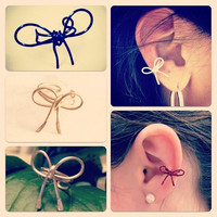 Bow Ear Cuff Choose your Color by AdoraBelle1 on Etsy