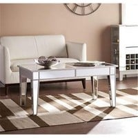 SEI CK9169 Mirage Mirrored Cocktail Table - Walmart.com