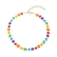 Blackheart Rainbow Bead Choker