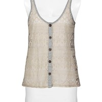 Daytrip Lace Front Tank Top - Women's Shirts/Tops | Buckle