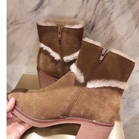 UGG   Women Casual Shoes Boots fashionable casual leather Women Heels Sandal Shoes
