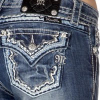 Miss Me Embellished Relaxed Fit Bootcut Jeans - Sheplers